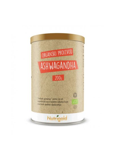 Ashwagandha prah - organski 200g Nutrigold