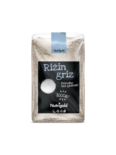 Rižin griz - krupica 1kg Nutrigold
